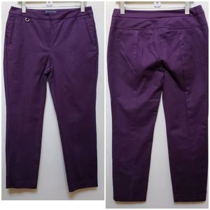 Adrianna Papell Purple Kate Ankle Pant Size 10